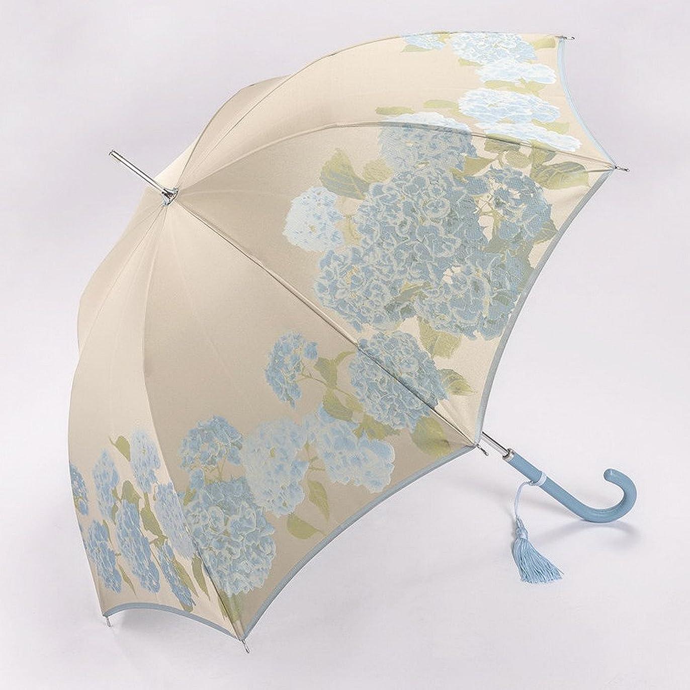 紛争おいしいスーツ槇田商店 高級婦人用長傘「絵おり 紫陽花」