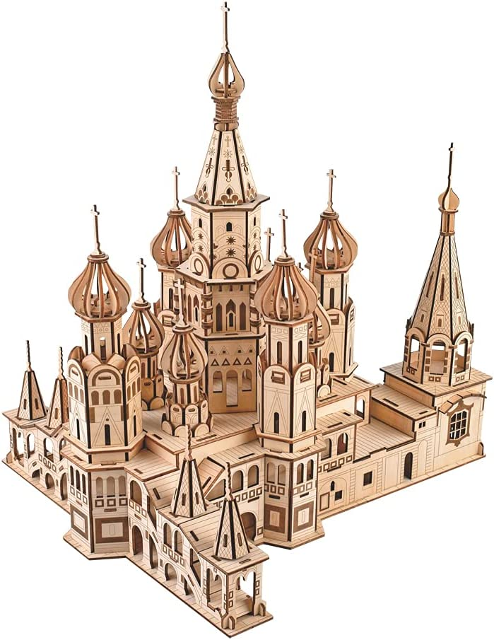 The Saint Basil's Austin Mall Direct sale of manufacturer Cathedral Architecture Fa World Craft DIY Wood