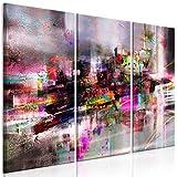 murando Cuadro en Lienzo Abstracto 120x80 cm 3 Partes Impresión en Material Tejido no Tejido Impresión Artística Imagen Gráfica Decoracion de Pared - Plata Colorido a-A-0616-b-e