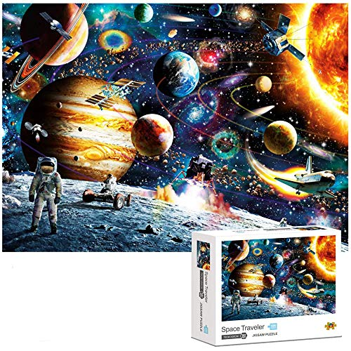 Jigsaw Puzzle 1000 Piece for Adults - Planets in Space Puzzle, Painting Puzzles, Puzzle Game Artwork for Adults, Personalized Gift Educational Games