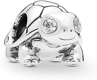 Bright-Eyed Turtle Charm 925 Sterling Silver Pet Bead fit Pandora Bracelets