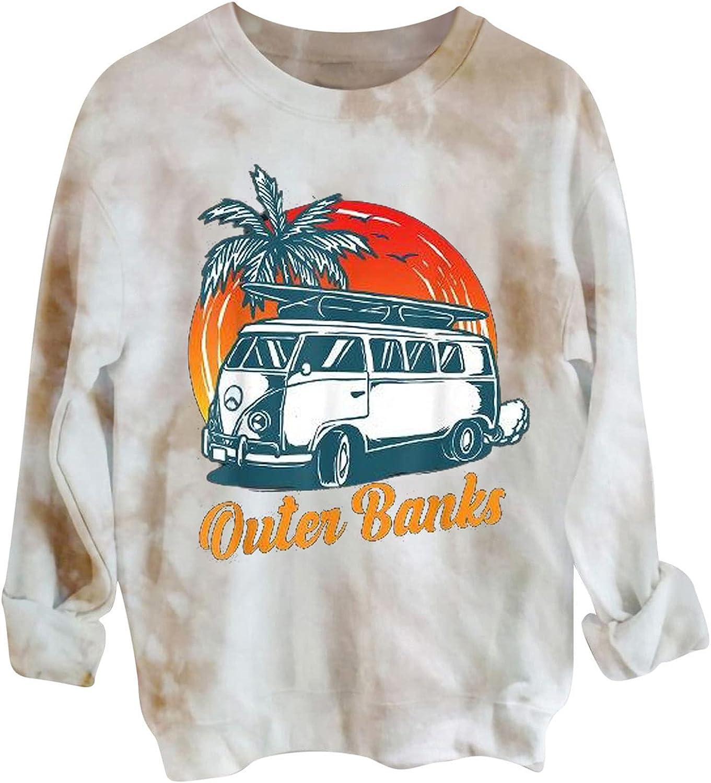 Women's Crewneck Sweatshirts Sales Halloween Hoodies Tie Trendy Print Direct store