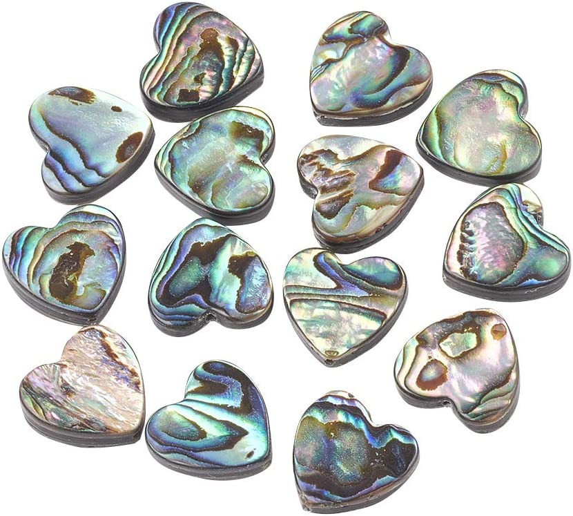 Set of 3 Top Drilled Shell Beads for Necklaces Natural Shell Charms Abalone Shell Pendants for Jewelry Making