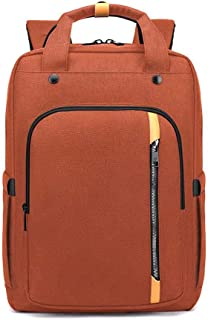 Laptop Bags New Men's Multi-Function Large Capacity 17 Inch Shoulder Travel Business Notebook Bag(Color:Orange,Size:17 Inch)
