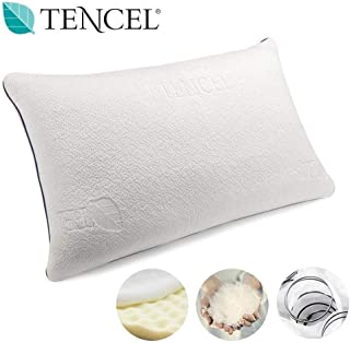 Vesgantti Orthopedic Pillow for Neck & Shoulder Pain, Neck Support Pillow with Pocket Springs and Cooling Fabric for Sleeping - Pain Relief