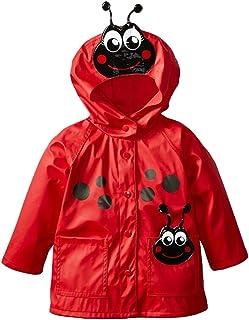 LvRao Kids Girls' Raincoats Animal Print Windproof Waterproof Hooded Coat Outdoor Jacket