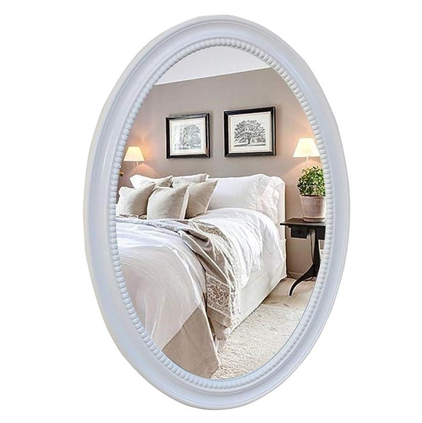 いろいろ影響する作動するオーバルウォールミラーバスルーム化粧ドレッシングミラー装飾的な剃毛アイアンミラー大型虚栄心アパートリビングルーム寝室の出入り口木製フレーム