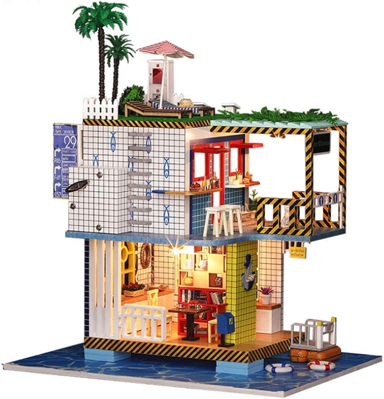 WEIGZ DIY Cottage Leisure Resort Cottage Modell montiert Villa Spielzeug Geburtstagsgeschenk