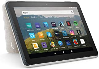 Amazon Fire HD 8 Tablet Case | Compatible with 10th generation tablet (2020 release), Sandstone White
