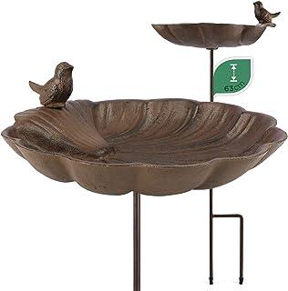 WILDLIFE FRIEND Bain d'Oiseaux sur Pied, Abreuvoir Mangeoire pour Oiseaux - Résistant aux Intempéries - Bain d'Oiseaux - B...