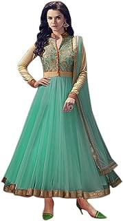 HomeDeal® Women Net Semi-stiched Anarkali Salwar Suit WIth Dupatta