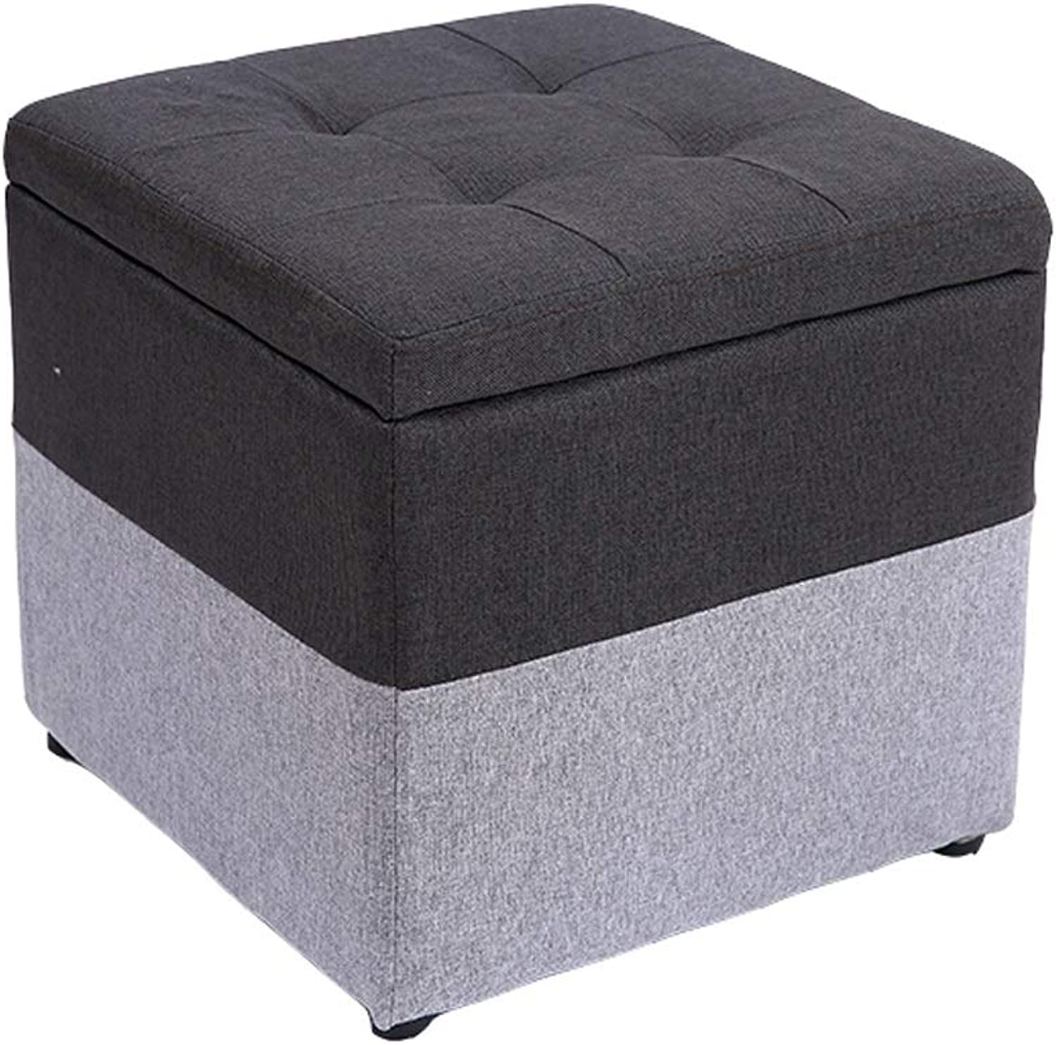 Wei Zhe- Storage Stool Fabric Stool Storage Stool Fashion shoes Bench Storage Stool Living Room Coffee Table Sofa Stool Creative Stool Short Pier -40  40  40CM Household Storage Stool (color   A)