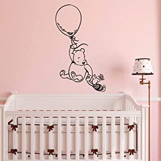 Aield Motivational Saying Lettering Art Winnie The Pooh Wall Stickers for Nursery Kids Room Classic Winnie The Pooh Nursery Wall Decals Baby Room Girl Boys Bedroom Mural