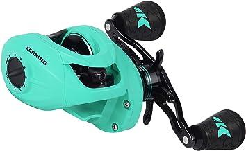 KastKing Crixus Baitcasting Reels, 6.5:1/7.2:1 Gear Ratio Fishing Reels, 17.6lbs Carbon..