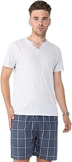 Mens Ex High Street Brand Cotton Pyjama Set Cotton T Shirt Shorts Loungewear