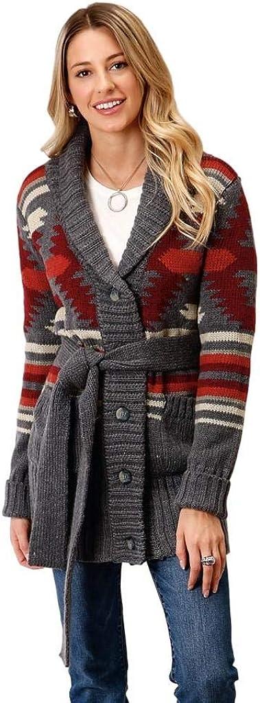 Stetson Women's Aztec Shawl Collar Cardigan