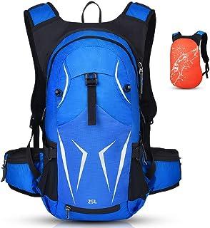 Vbiger Fahrradrucksack Damen Herren 25L Sportrucksack Wasserdichter Trinkrucksack Tagesrucksack für Radsport Outdoor Blau mit Wärmedämmung