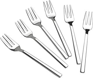 Doryh Stainless Steel Tasting Appetizer Forks, 6.1 Inches, 12 Pieces
