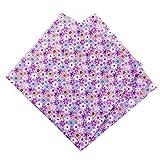 LiuADNIKjing 50X50Cm 100% Algodón Flores Florales Tela De Puntos para Muñeca Patchwork Ropa Costura ...