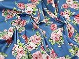 Floral Print Hendon Stretch Baumwolle Twill Kleid Stoff