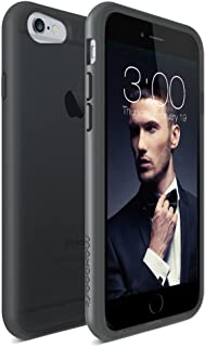 iPhone 6 case, Maxboost [HyperPro Series] Premium Shock-Absorbing TPU Cases Durable Bumper Cover Frame, Matte Soft Anti-Scratch Finish Work with iPhone 6 (2014) - Transparent Clear Black