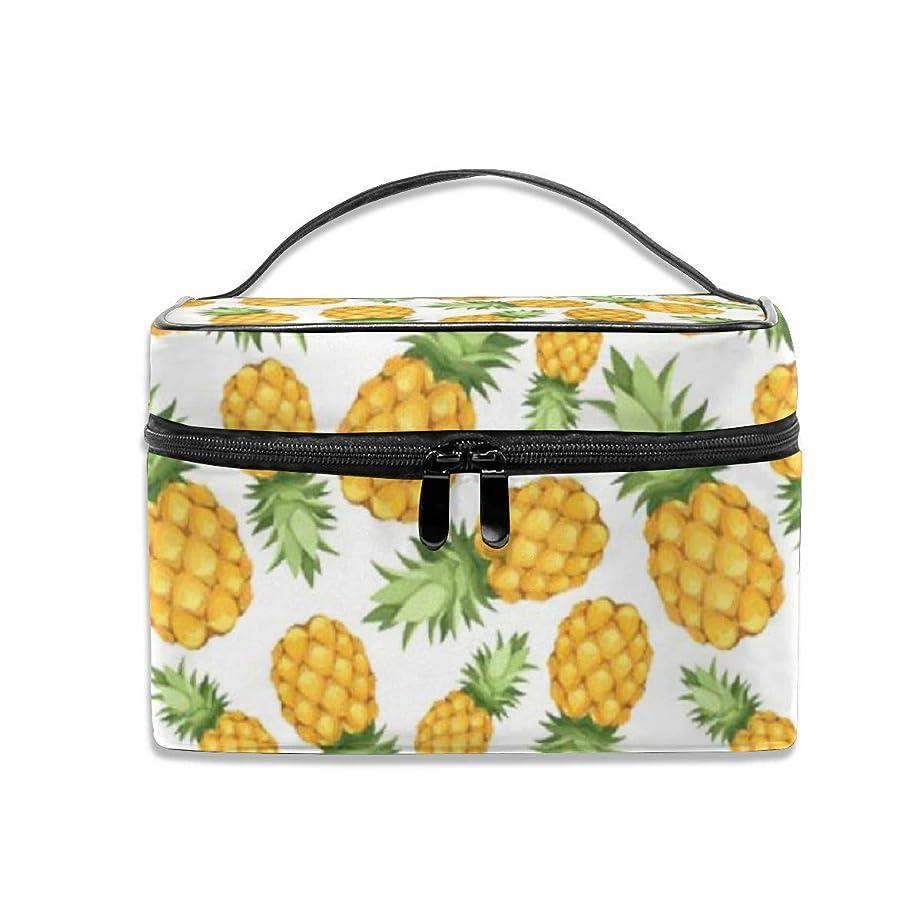 進捗無視できる価値パイナップル柄 化粧ポーチ 化粧品バッグ 化粧品収納バッグ 収納バッグ 防水ウォッシュバッグ ポータブル 持ち運び便利 大容量 軽量 ユニセックス 旅行する