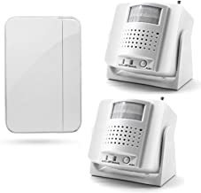 Daytech Indoor Motion Sensor Pager Alarm/Caregiver Pager Elderly/Driveway Alert/Door Buzzer Entry System/Mailbox Sensor/Pe...