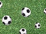 Minerva Crafts Stoff mit Fußball-Druck, Baumwolle und