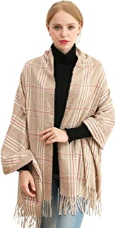 Longwu Women Soft Cashmere Wool Scarf Large Pashminas Shawl and Wrap Warm Stole Blanket