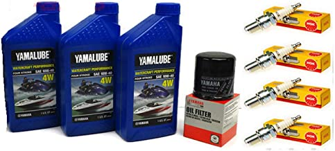 Yamaha 2005-2015 VX110 Deluxe Cruiser Sport VX 110 V1 Oil Change Kit w/NGK Spark Plugs Set