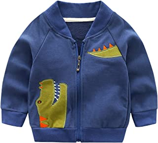 43892f8ee Haotong - Chaqueta de Bebé Niños de Algodón con Bordado Dinosaurio para  Otoño Primavera Sudadera de