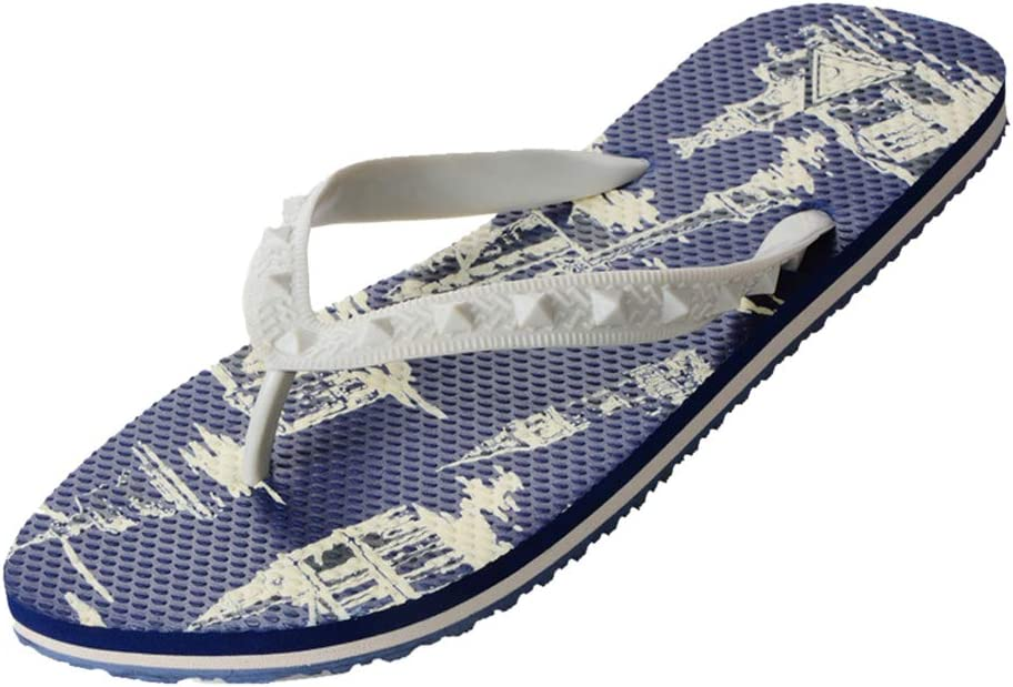 Mens Casual Flip Flops Beach Slippers Summer Sandals Outdoor Slippers with Arch Support for Unisex Suitable for Beach Vacation Swimming Pools Parties Leisure