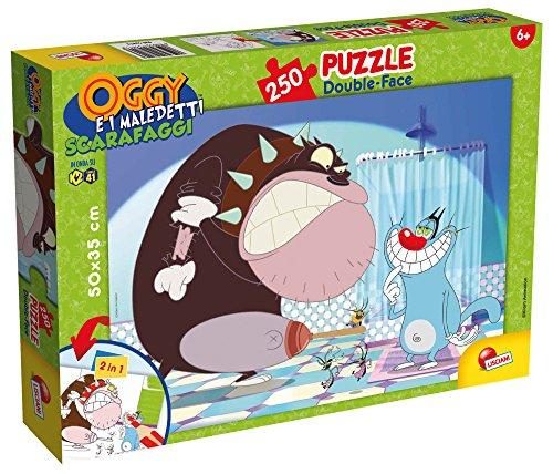 Lisciani Spiele 52813–Puzzle DF Plus Motiv Oggy und die Kakerlaken, 250Stück, Mehrfarbig