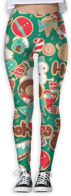 Christmas Decoration Wallpaper Women's Power Flex Activewear Yoga Pants Workout Tights Leggings Trouser