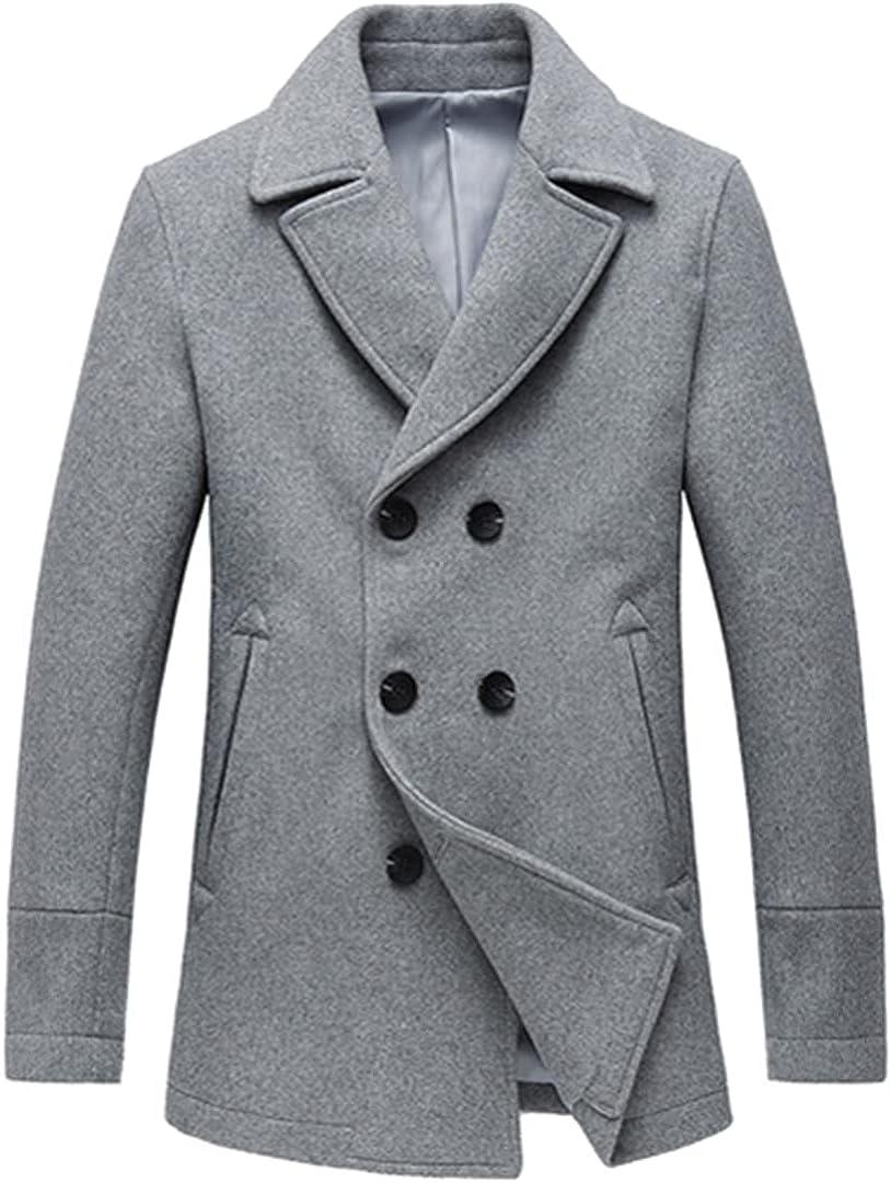 Double Breasted Suit Collar Business Wool Coat Mens Coats Mens Coat Mens Long