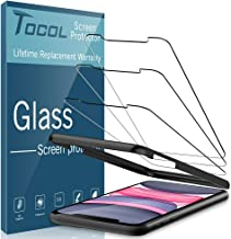 "TOCOL [3Pack] for iPhone 11 and iPhone XR (6.1"") Screen Protector Tempered Glass HD Clarity Touch Accurate [9H Hardness] Case Friendly with Easy Installation Frame"