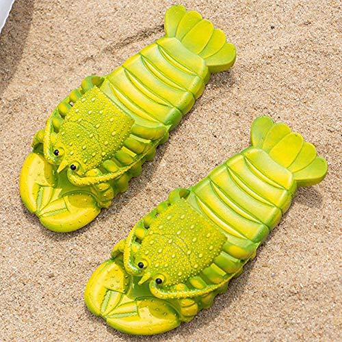 LINGZIA Tallas Grandes 41-47 Zapatos de Mujer Sandalias de Langosta de Verano 2020 Nuevas Zapatillas de Langosta de Playa Antideslizantes 10 Verde