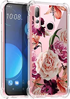 Osophter for HTC Desire 19S Case Flower Floral for Girls Women Shock-Absorption Flexible TPU Rubber Soft Silicone for HTC ...