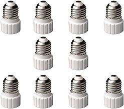 Veda Lot de 10 adaptateurs de douille E14 vers GU10