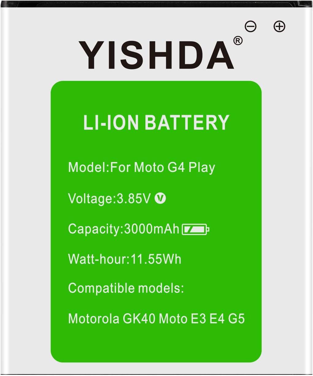 Moto sold out G4 Play Battery YISHDA Motorola GK40 3000mAh Philadelphia Mall Repl SNN5976A