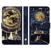 ブレインズ Galaxy S21 5G SC-51B SCG09 手帳型 スマホケース カバー 夜空の魔法書 よう wondercollection 空 夜空 星 月 宇宙 街