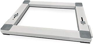 Meliconi Base Wash Pro Base en métal anti-vibration réglable pour appareils électroménagers avec roues et freins latéraux ...