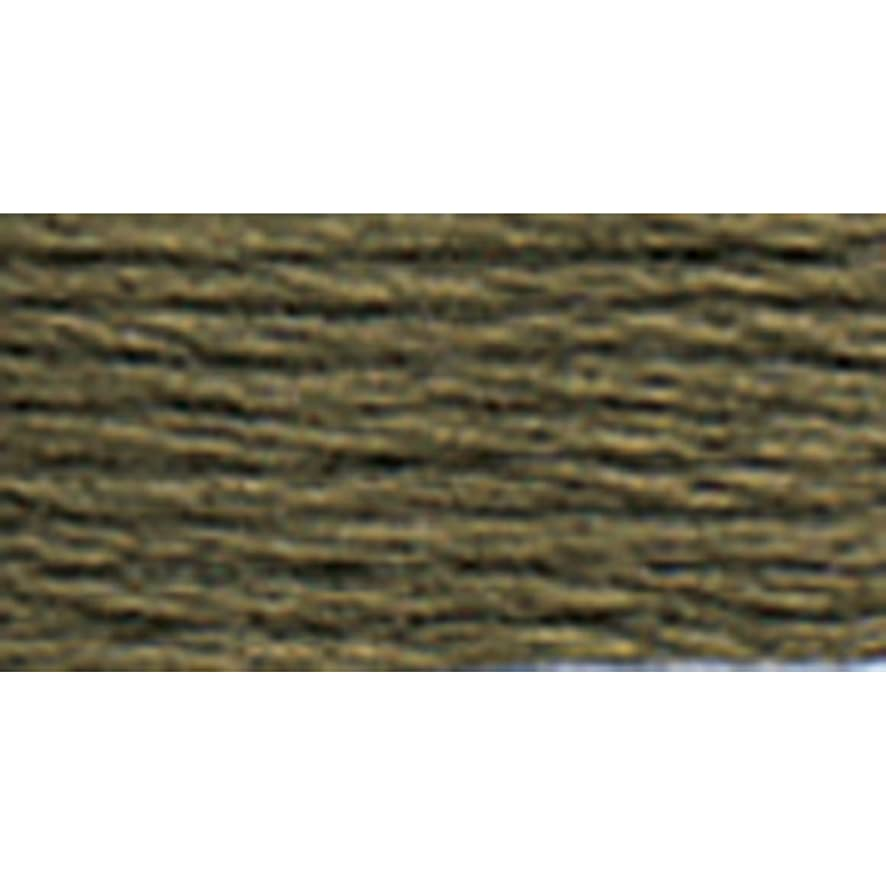 DMC 117-3787 Mouline Stranded Cotton Six Strand Embroidery Floss Thread, Dark Brown Grey, 8.7-Yard
