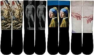 Famous Oil Painting Art Socks Funny Colorful Novelty Socks for Women/MEN
