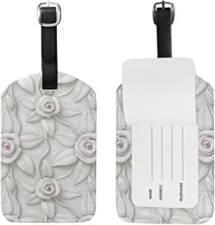 My Daily 3D Flower Floral Printed Luggage Tag PU Leather Bag Tag Travel Suitcases ID Identifier Baggage Label