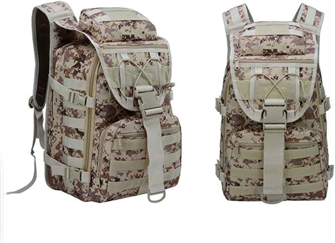 Camouflage Sac à Dos d'extérieur Tactique Sac à Dospour trekking Assault Pack Sac à Dos Trekking Et Camping Militaire Randonnée de Rush tactique étanche Sac à Dos Tactiques pour Voyager 35L 2 Packs