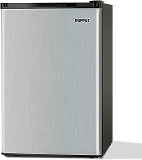 KUPPET Compact Upright Freezer, Single Door, Reversible Stainless Steel Door, Adjustable Removable Shelves, 3.0 cu. ft.