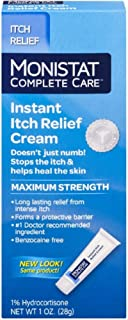 Monistat Care Instant Itch Relief Cream   Max Strength   Cools & Soothes   1 OZ