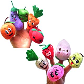 Children Fruits and Vegetables Plush ToysStuffed Finger Puppet?10pc