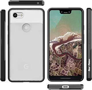 Bear Motion for Pixel XL 3 - Slim Acrylic Back Cover Case for Pixel XL 3 (Black, Pixel XL 3)